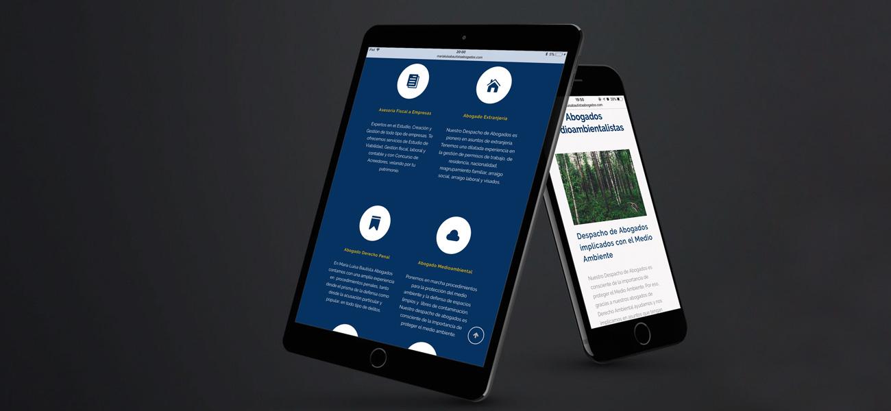 Página web coporativa abogados