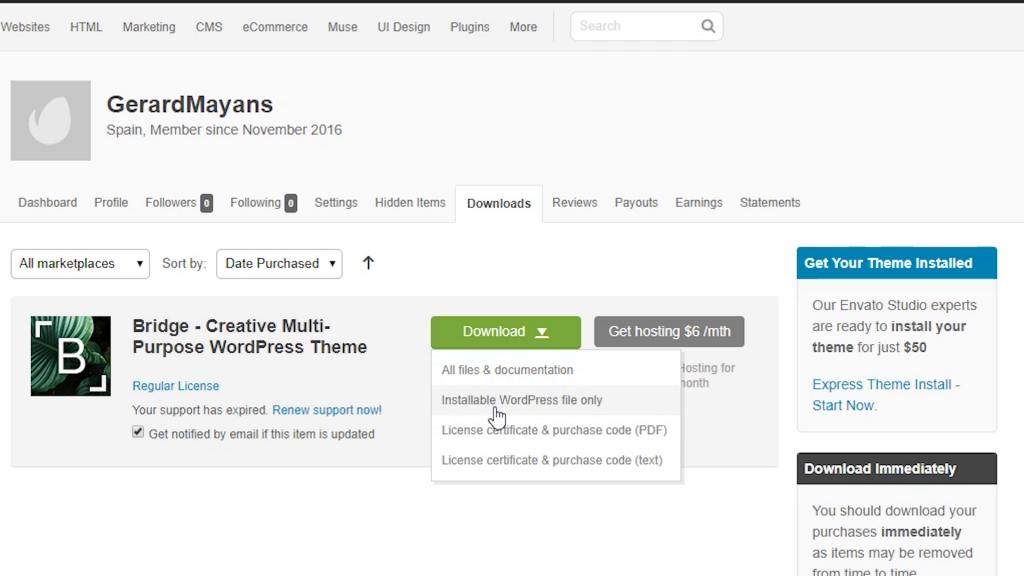 Actualizar plantillas WordPress Premium y temas en 5 minutos!!